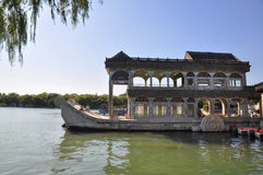 Marble ship in Summer Palace Royalty Free Stock Photos