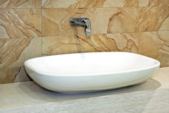 Marble sink Stock Photo
