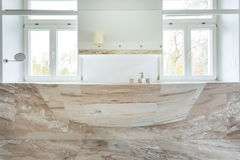 Marble sink in expensive bathroom Royalty Free Stock Photos