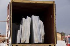 Marble slab storage stock photo