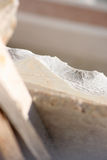 Marble. Slags after processing in the industry stock photos
