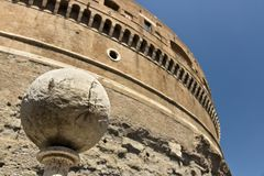 Marble sphere in Castel Sant`angelo royalty free stock photography