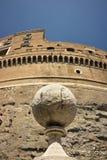 Marble sphere in Castel Sant`angelo stock image