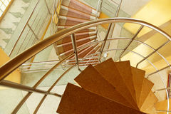 Marble spiral staircase Royalty Free Stock Photos