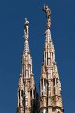 Marble spires of the Milan Cathedral Stock Photography