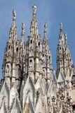 Marble spires of the Milan Cathedral Stock Photo