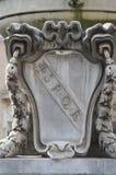 Marble SPQR effigy. An effigy in roman fountain Stock Photos