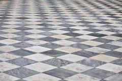 Marble square floor Stock Photo