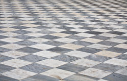 Marble square floor Royalty Free Stock Photos