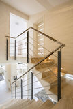Marble staircase in apartment Royalty Free Stock Photo
