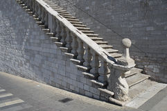 Marble Staircase. Assisi. Umbria. Royalty Free Stock Image