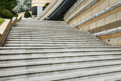 Marble staircase and building local Royalty Free Stock Image