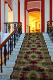 Marble staircase with a carpet Royalty Free Stock Photography