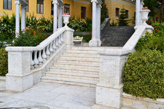 Marble staircase Royalty Free Stock Photo