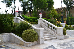 Marble staircase. In the classic style Stock Image