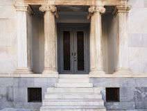 Marble staircase and the entrance to the building. White marble staircase and the entrance to the building Royalty Free Stock Photo