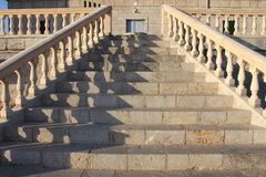 A marble staircase with handrails Royalty Free Stock Images