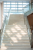 Marble staircase in the hotel Stock Images