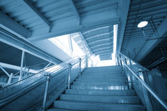 Marble staircase  in modern building Royalty Free Stock Images