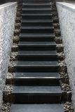 Marble staircase with stone wall Stock Images