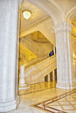 Marble stairs. Inside the building of Parliament Palace in Bucharest Romania royalty free stock photos
