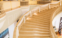 Marble stairs decorated for wedding Royalty Free Stock Image