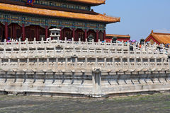 Marble stairs in the Forbidden City in Beijing, China Royalty Free Stock Photos