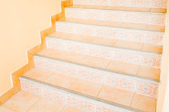 Marble stairs. In front of the house Royalty Free Stock Images
