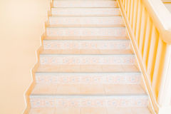 Marble stairs. In front of the house Stock Photos