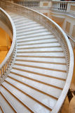 Marble stairs in luxury hotel. Wide, winding stairs in a luxury hotel Stock Photo