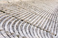 Marble stairs. Of panathenaic stadium Royalty Free Stock Photography