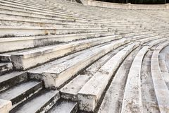 Marble stairs. Of panathenaic stadium Stock Photo