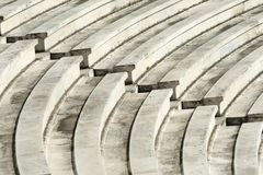 Marble stairs of panathenaic stadium. In Athens, Greece royalty free stock image