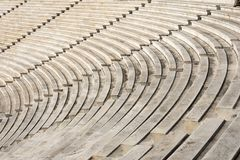 Marble stairs of panathenaic stadium. In Athens, Greece stock photography