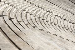 Marble stairs of panathenaic stadium. In Athens, Greece stock photo
