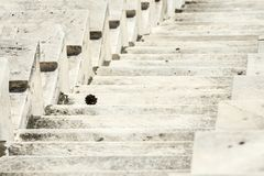 Marble stairs of panathenaic stadium. In Athens, Greece royalty free stock photos