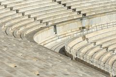 Marble stairs of panathenaic stadium. In Athens, Greece stock photos