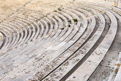 Marble stairs. Of panathenaic stadium Royalty Free Stock Image