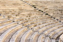 Marble stairs. Of panathenaic stadium Stock Images