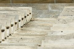 Marble stairs of panathenaic stadium. In Athens, Greece stock images