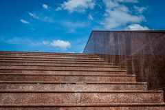 Marble stairs into the sky Stock Image
