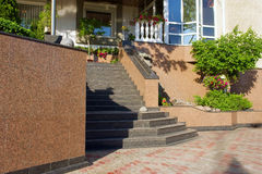 Marble Stairs To Building Royalty Free Stock Images