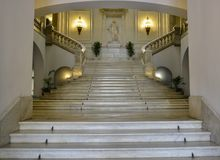 Marble stairway Royalty Free Stock Photography