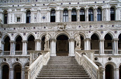 Marble stairway to Doge's Palace Stock Photos