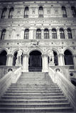 Marble stairway in the yard of Palazzo Ducale Royalty Free Stock Photos