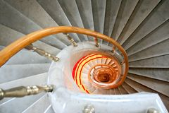 Marble stairwell. Royalty Free Stock Photos
