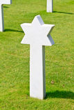Marble Star of David of fallen Soldier Royalty Free Stock Photography