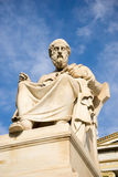 Marble statue of the ancient Greek Philosopher Plato. Academy of Athens,Greece Royalty Free Stock Image