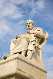 Marble statue of the ancient Greek Philosopher Plato. Academy of Athens,Greece Royalty Free Stock Images
