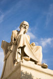 Marble statue of the ancient Greek Philosopher Socrates. Stock Images